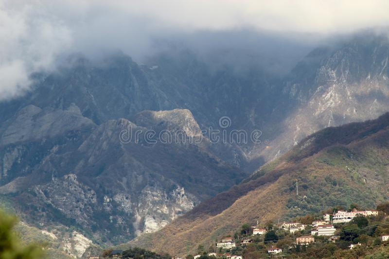 The beautiful landscape and mountains of Italy. These are the mountains ,the al ps of Italy at a sunny autumn day stock photography