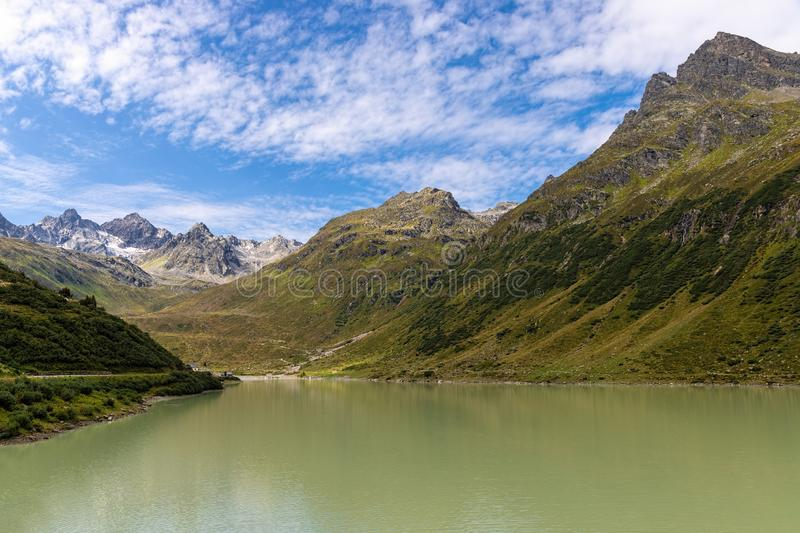 The mountains along the Silvretta High Alpine Road, Austria stock images