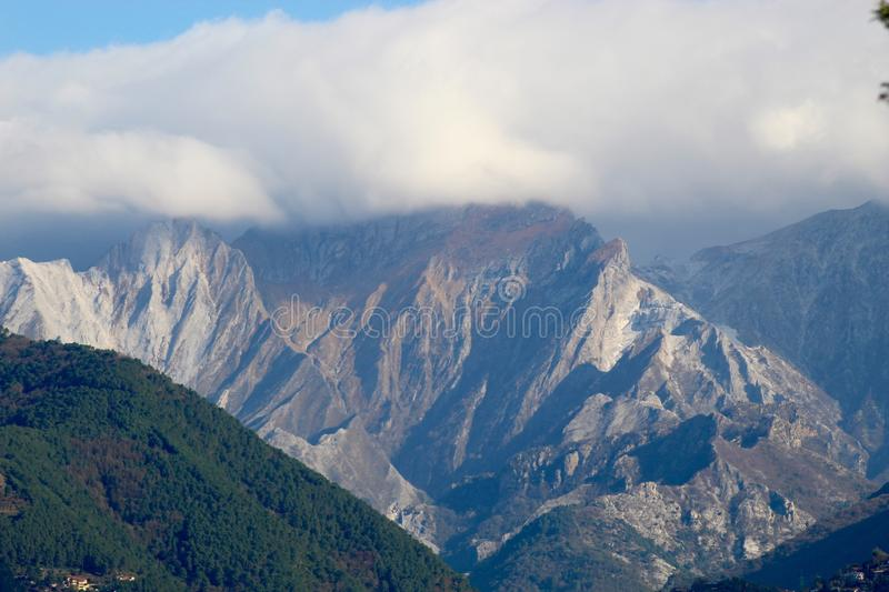 The view of the mountains. These are the mountains , the Alps in Italy at a sunny but also cloudy day royalty free stock photo