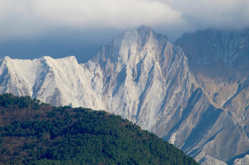 The view of the mountains. These are the mountains , the Alps in Italy royalty free stock photography