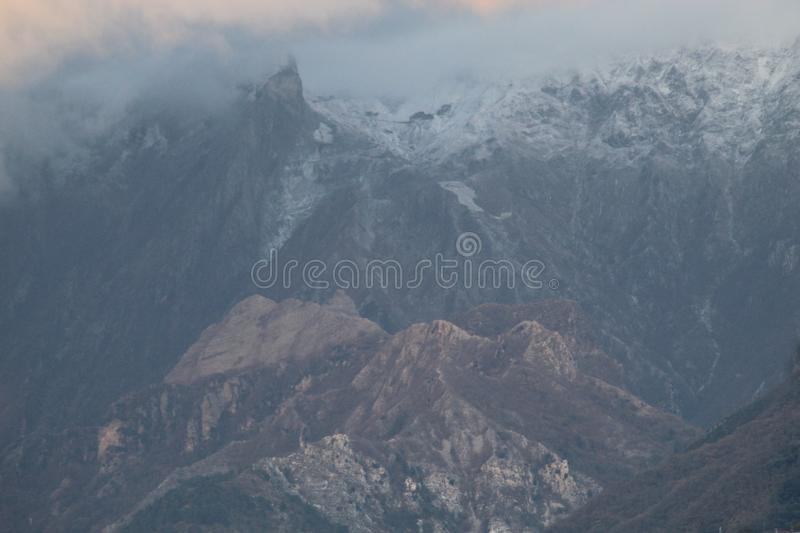 The view of the mountains. These are the mountains , the Alps in Italy royalty free stock photo