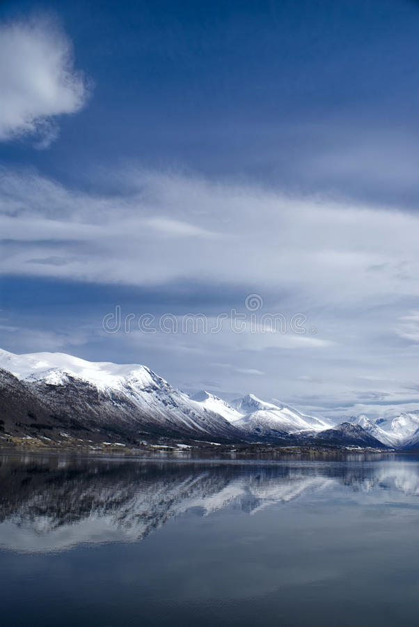 Mountains in Andalsnes royalty free stock image