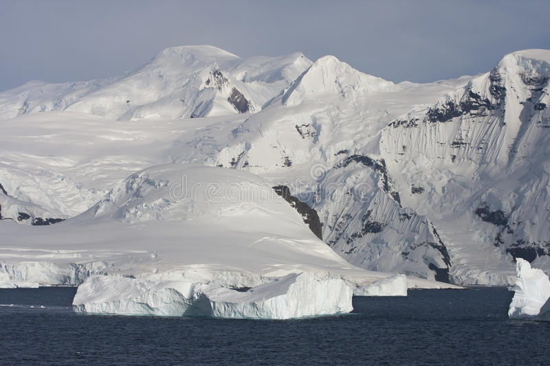 Mountains on the Antarctic Peninsula. Near Paradise Bay stock images