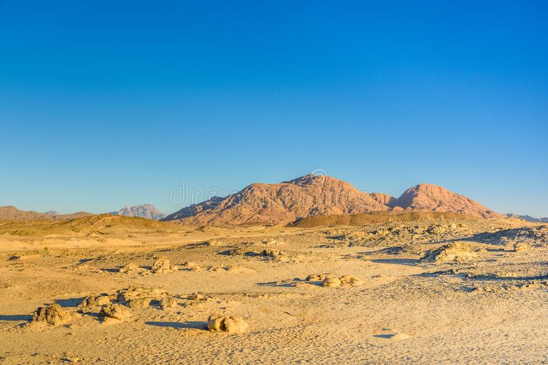 Mountains in arabian desert not far from the Hurghada city, Egypt. Mountains in arabian desert not far from Hurghada city, Egypt royalty free stock photography