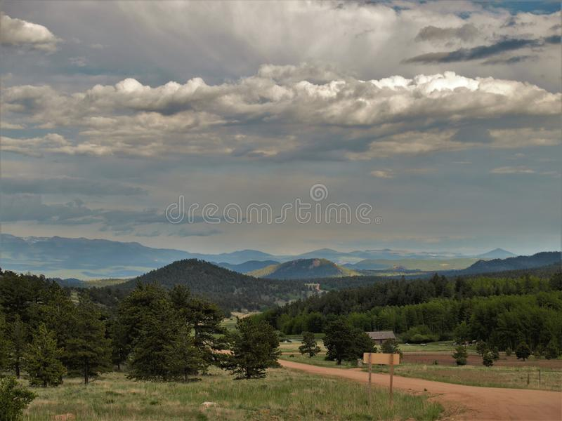 Mountains around Cripple Creek. Scenery of the mountains just outside the small town of Cripple Creek, Colorado stock photo