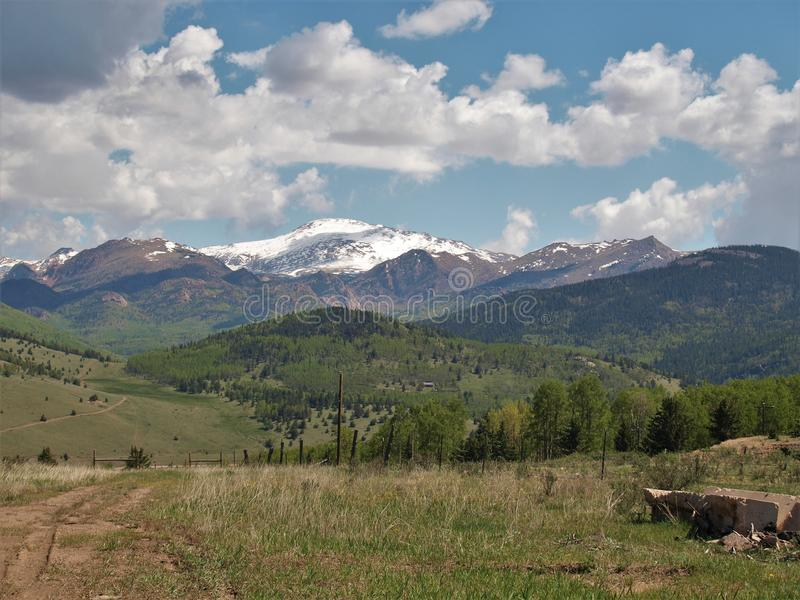 Mountains around Cripple Creek. Scenery of the mountains just outside the small town of Cripple Creek, Colorado royalty free stock photo