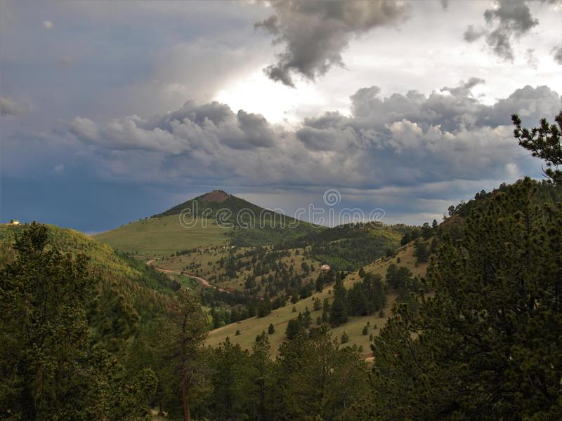 Mountains around Cripple Creek. Scenery of the mountains just outside the small town of Cripple Creek, Colorado stock photography