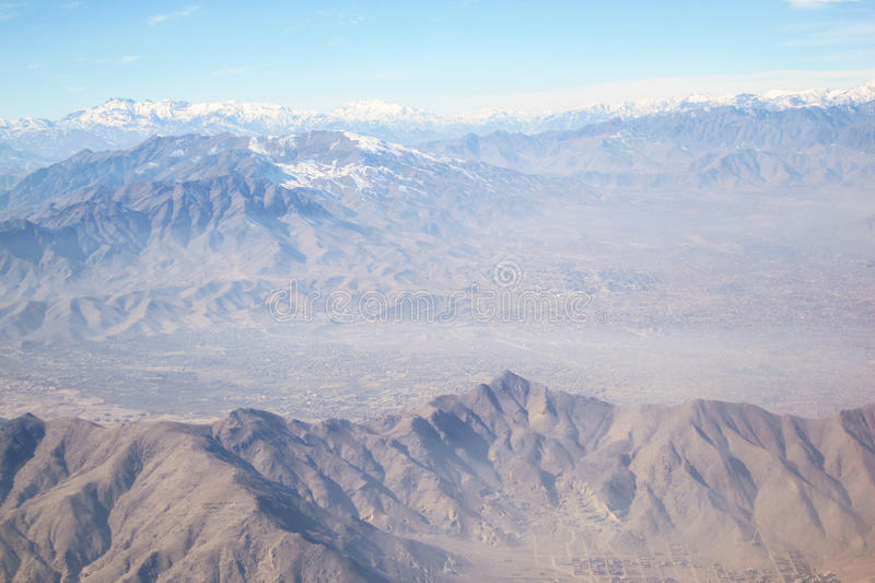 Mountains Around Kabul, Afghanistan. The Hindu Kush mountains surrounding the capital city of Kabul, Afghanistan royalty free stock image