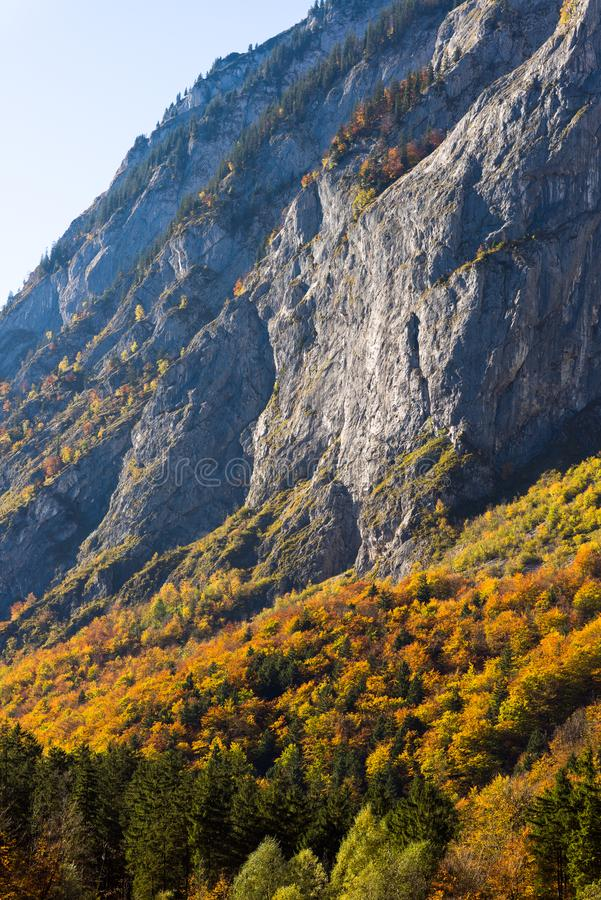 Mountains austria in autumn royalty free stock images
