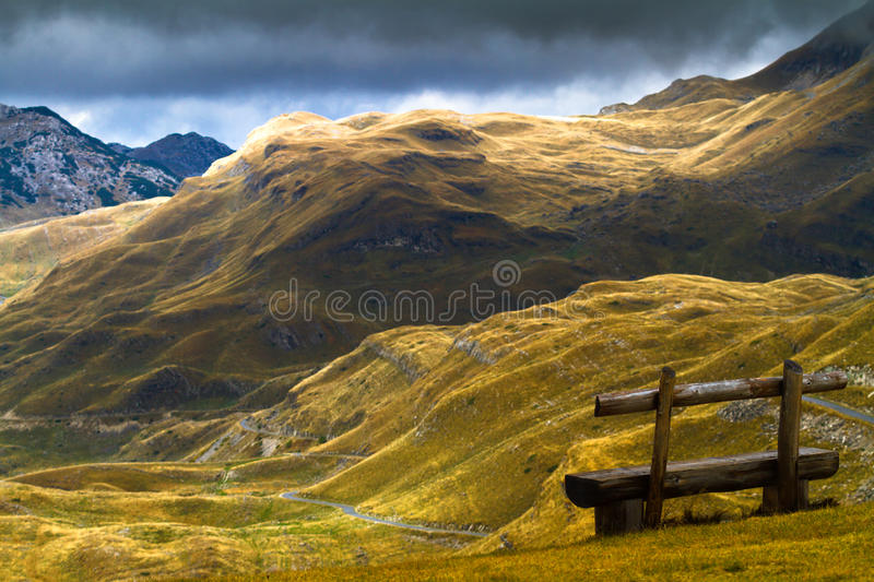 Mountains in autumn. National nature park royalty free stock photography
