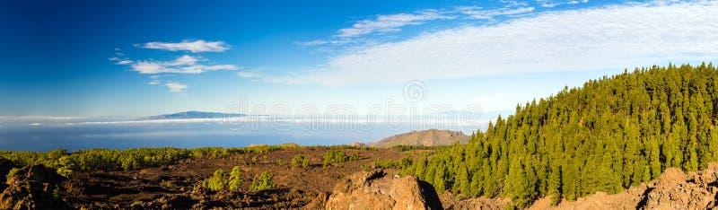 Mountains beautiful inspirational landscape panorama, islands an. Mountains beautiful inspirational landscape panorama view, islands and ocean, Canary Islands La royalty free stock photos