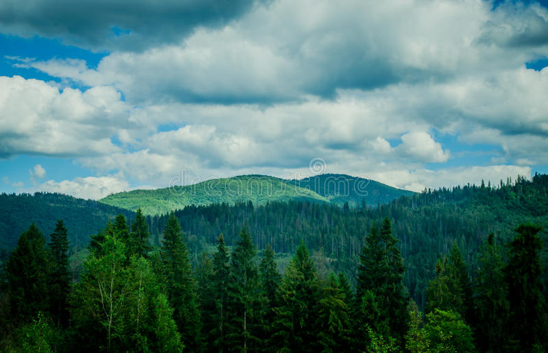 Mountains. Big, beautiful and mighty Carpathian Mountains royalty free stock photos