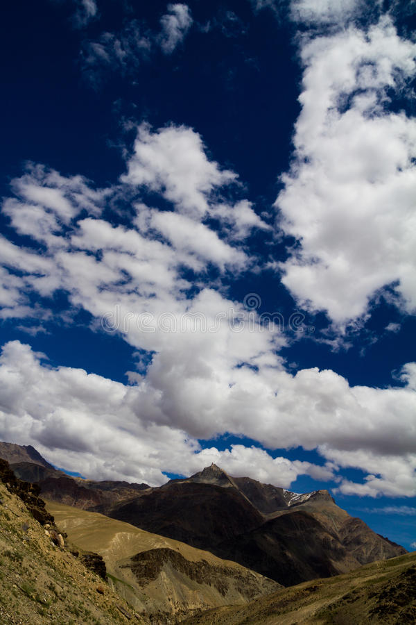 Mountains and blue sky stock image