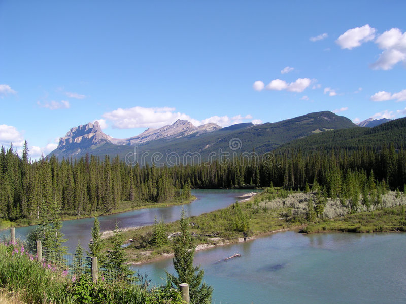Mountains in Canada. Mountains and wild nature in Canada stock image