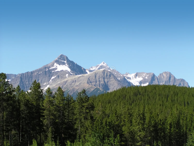 Mountains in Canada. Mountains and wild nature in Canada stock photo