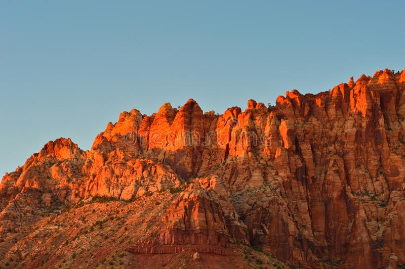 Mountains of Capitol reef national park stock photography