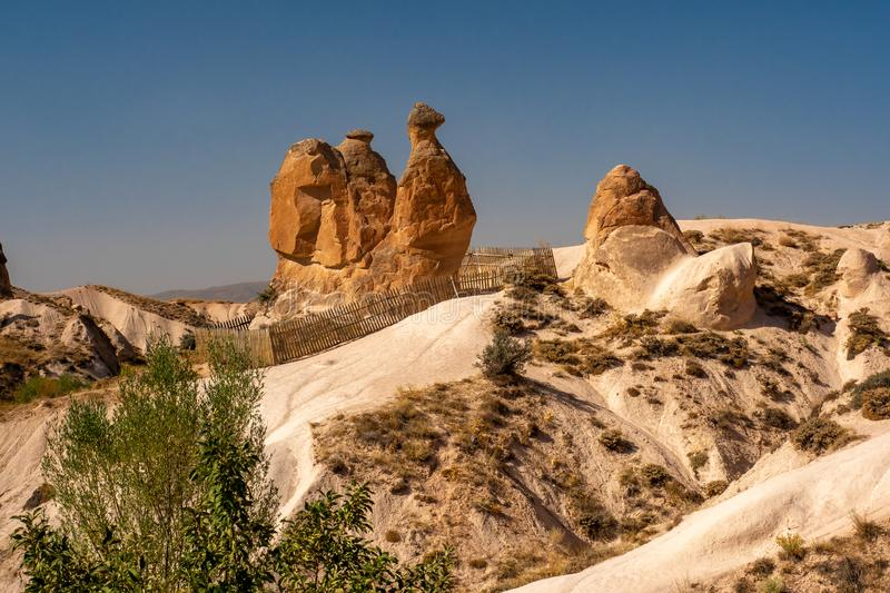 Mountains in Cappadocia royalty free stock image