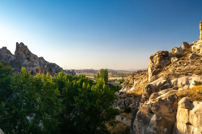 Mountains in Cappadocia royalty free stock images