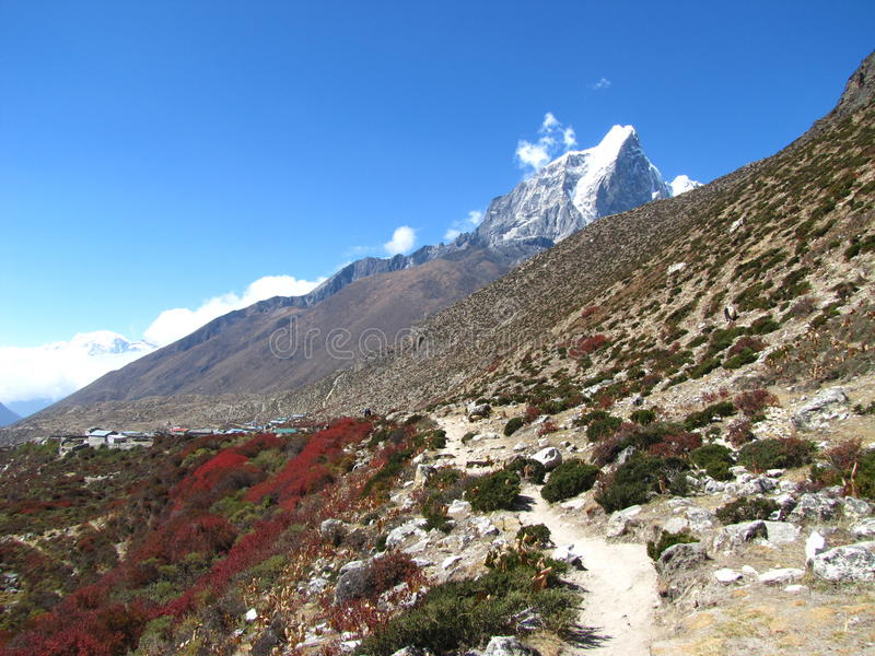 The mountains city. The mountains in Nepal Himalayas royalty free stock photography