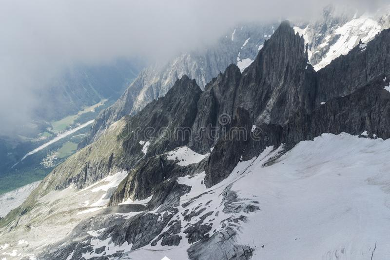 Mountains close up in the summertime royalty free stock image