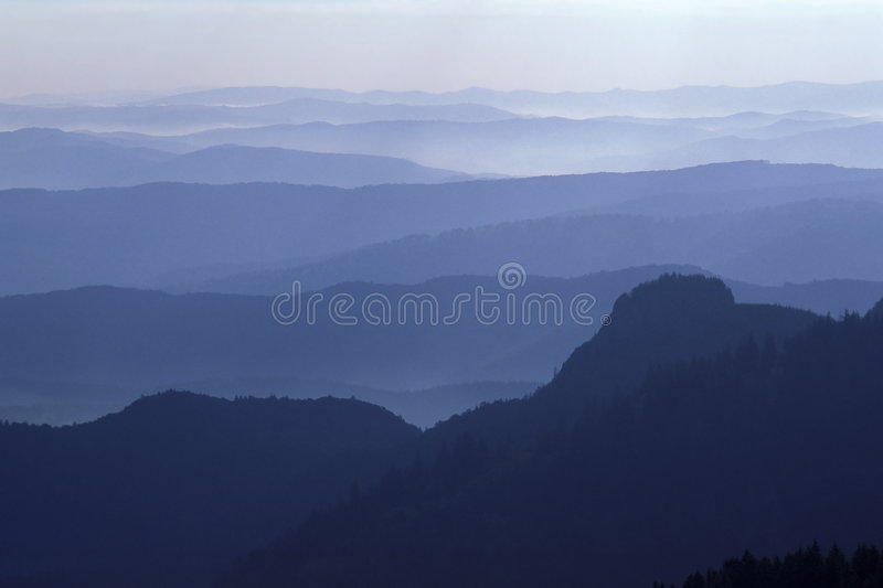 Mountains with cloud. Buzau Mountains, Eastern Carpathians, Romania stock photos