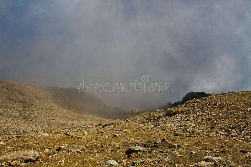 In the mountains, within the cloud royalty free stock photography