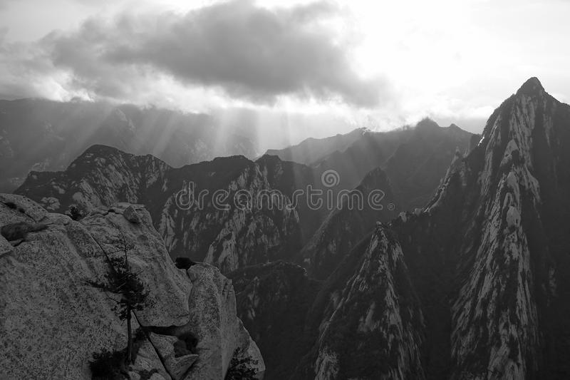 Download Mountains and clouds stock image. Image of black, natural - 23749093