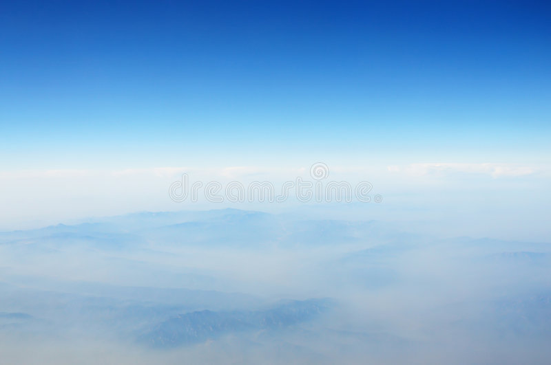 Mountains and clouds royalty free stock images