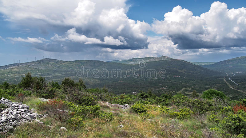 Mountains and clouds royalty free stock photos