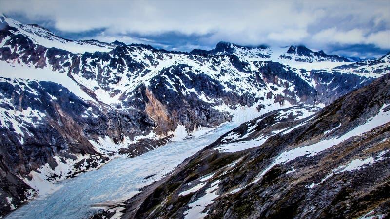 Glaciers around Skagway, Alaska stock photo