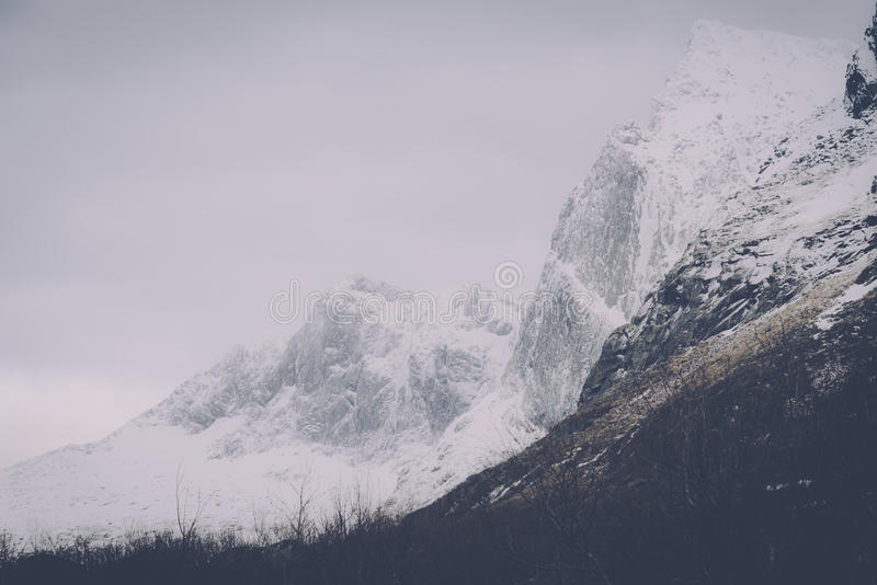 Mountains Covered With White Snow During A Gloomy Day Free Public Domain Cc0 Image