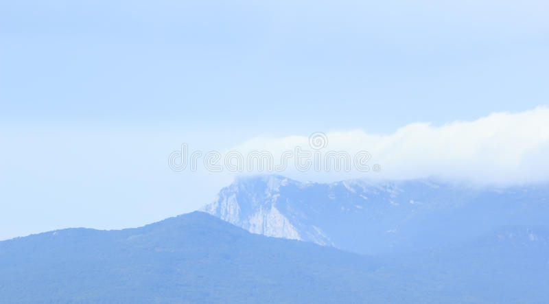 Mountains of Crimea covered by clouds royalty free stock photos