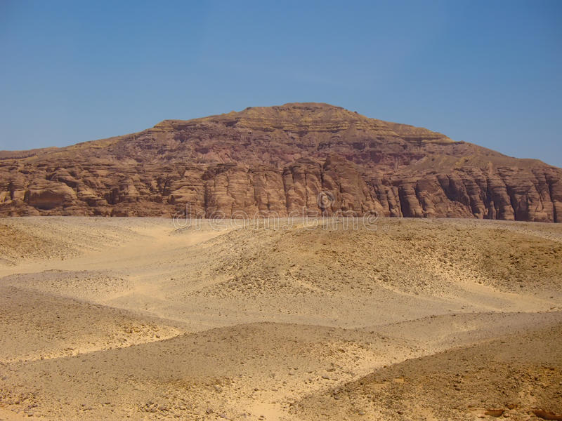 Mountains The Desert. Africa Stock Images