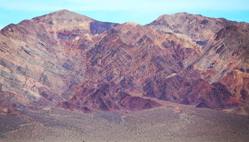 Mountains in the Desert of Death Valley, California. Beautiful mountains in the desert of Death Valley stock photography