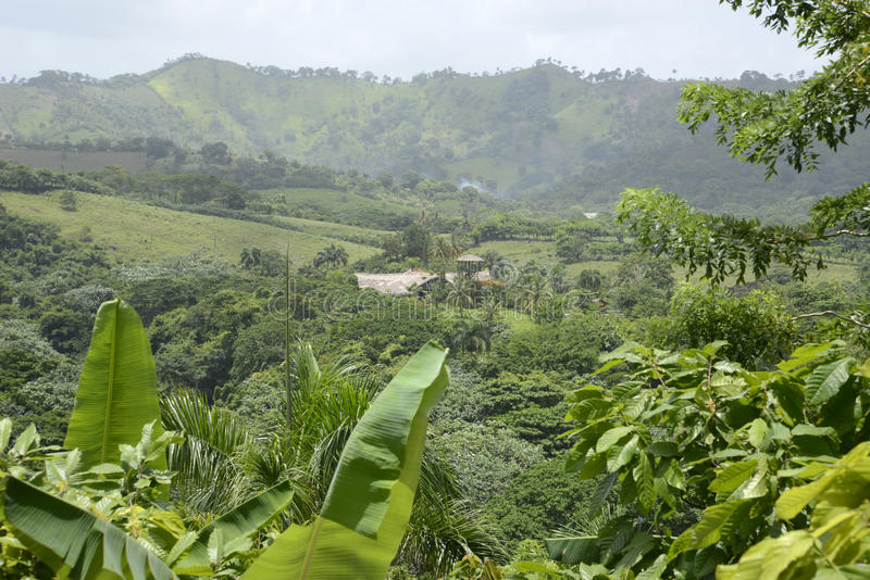 Mountains in the Dominican Republic stock photography