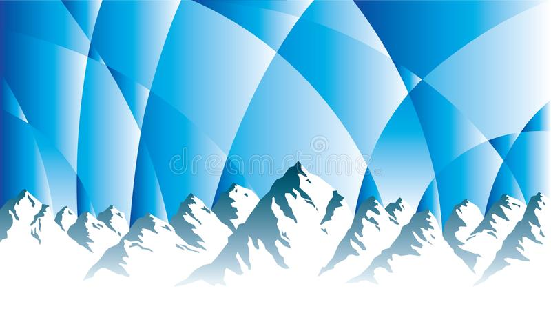 Mountains with dramatic sky royalty free illustration