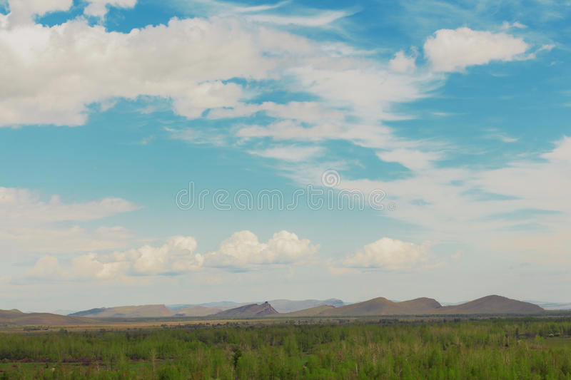 Download Mountains On The Earth And In The Sky Royalty Free Stock Photography - Image: 31533867