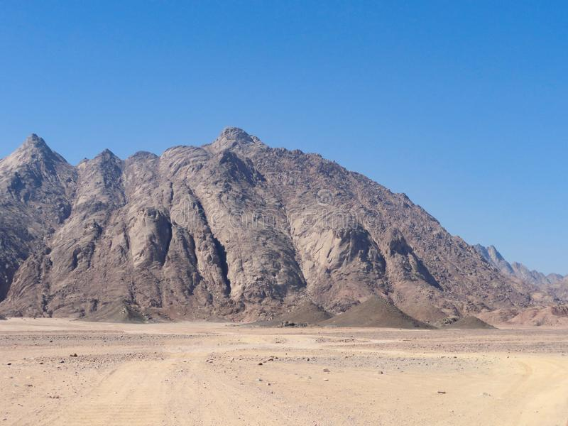 Mountains in the egypt desert. Mountains in the egypt desert stock photography
