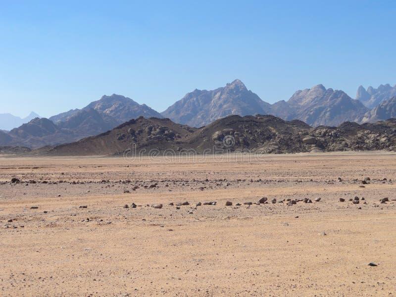 Mountains in the egypt desert. Mountains in the egypt desert stock image