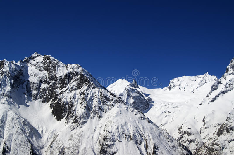 Mountains In Fair Weather Royalty Free Stock Images