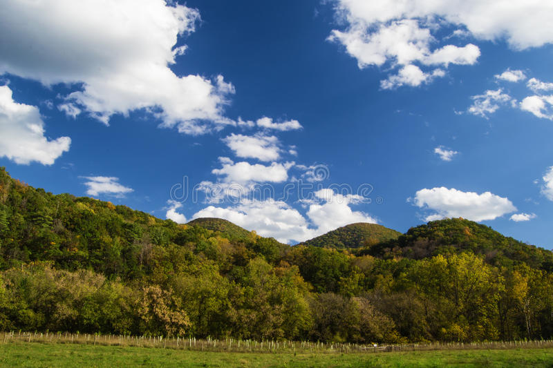 Mountains in Fall Foliage royalty free stock images