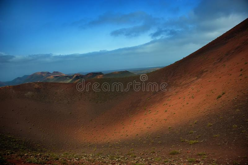 Mountains of fire, Canary islands. Mountains of fire,Timanfaya Park, Lanzarote, Canary islands royalty free stock image