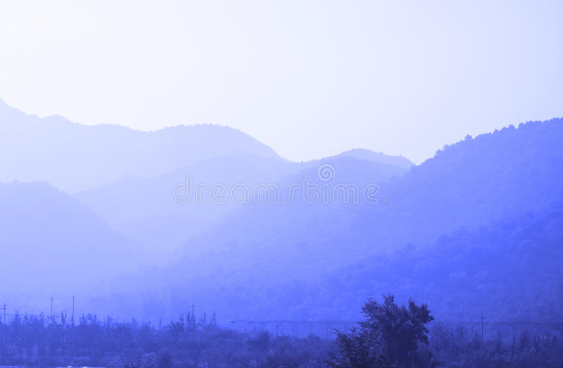 In the mountains of the fog royalty free stock photo