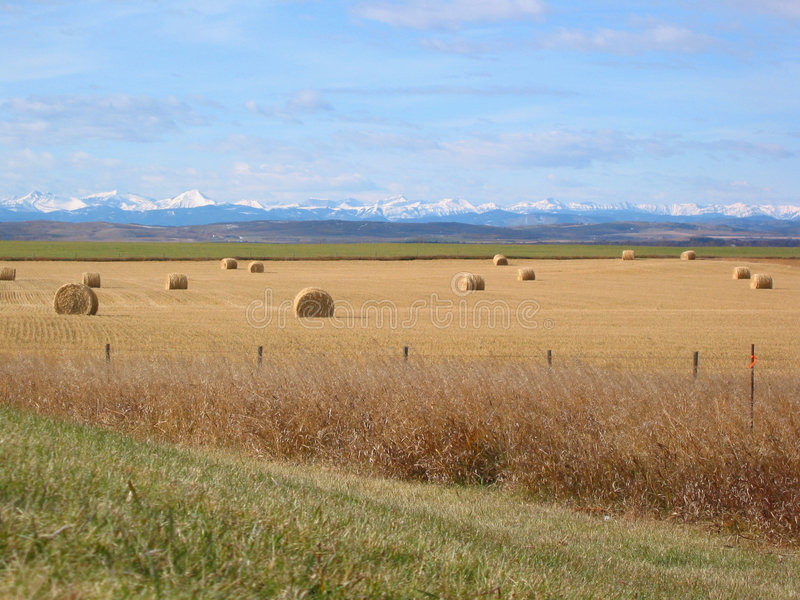 Download Mountains, Foothills, And Bales Stock Photos - Image: 5883
