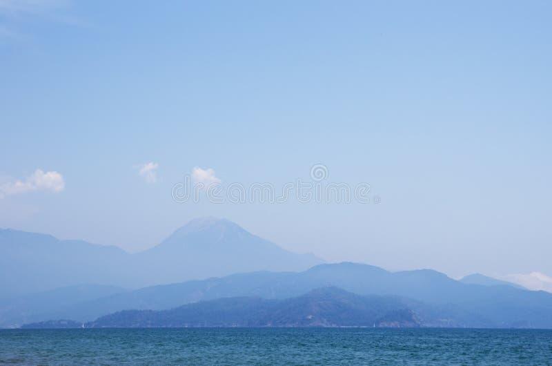Download Mountains in haze stock image. Image of ocean, rock, panoramic - 26134975