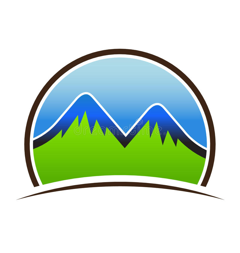 Download Mountains High Logo stock vector. Illustration of shield - 32230992