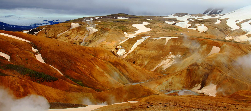 Hveradalir geothermal park, Kerlingarfjoll, Iceland. Mountains in Hveradalir geothermal park, Kerlingarfjoll, Iceland stock photography