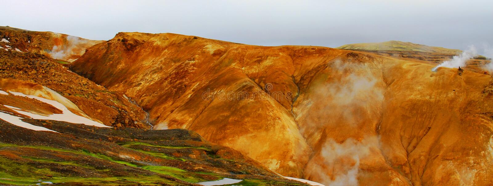 Hveradalir geothermal park, Kerlingarfjoll, Iceland stock photography