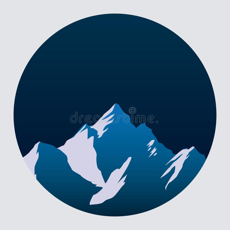 Mountains icon vector illustration. Eps 10. Mountains icon vector illustration. Eps 10 royalty free illustration
