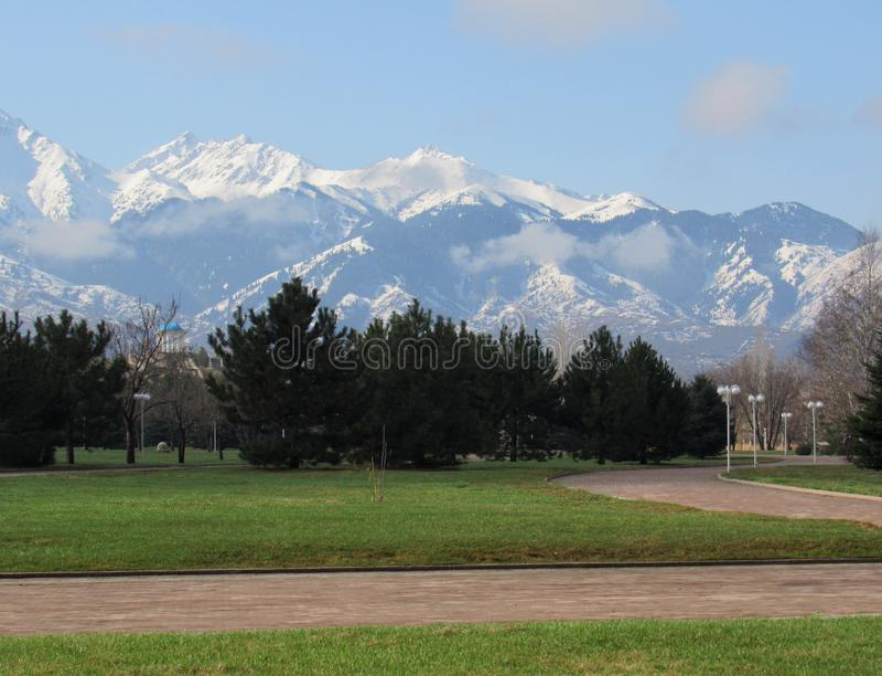 Mountains. Of the Ili Alatau royalty free stock photo